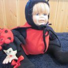 "15"" Doll in Ladybug costume with two bugs"