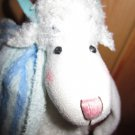 2004 Hallmark Plush Really Woolly Lamb by DaySpring wearing flip flops