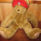 "Children's Place 16"" Tan Teddy Bear in Red Hat"