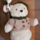 Enesco Cherished Teddies Buddy Plush Teddy Bear Snowman with broom