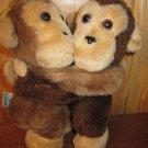 "Vintage Dakin 7"" Plush Hugging Monkeys 1978"