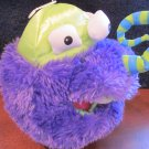 Manhattan Toy Co plush Purple Monster hand puppet