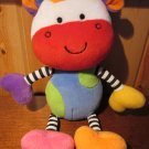 Koala Baby Brightly colored Plush Cow with stripes