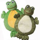 New Plush 2-faced Alligator and Frog Crinkle Dog toy