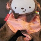 Fisher Price Brown Monkey Rattle Security Cuddle Blanket new with tags