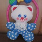lush Fisher Price 1996 Cat Toy Rattle Kitty