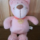 Manhattan Baby Pink Plush cat named Kitty with dots