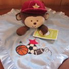 Circo Target Blue Security Blanket Brown Monkey Sports theme Lovey