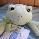 New with Tags Blue security blanket with green frog named henry Sweet one