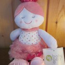 Baby Gear Plush Pink doll with flowers dots and Pink swirl fur