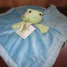 Designed by Kelly B Rightsell  for Pickles Blue Security Blanket Green frog named Henry