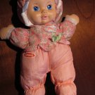 1999 Playskool Nylon plush pink my very soft baby  5034