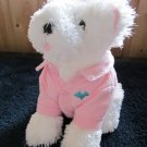 Bath & Body Works Plush White Dog named Chip wearing Pink shirt