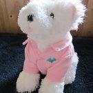 Bath & Body Works Plush White Dog named Chip wearing Pink shirt