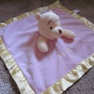 Disney Winnie the Pooh Pink Security Blanket Lovey With Pooh printed on it