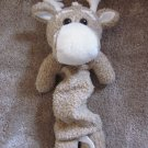 Kids II Tan and Cream colored Plush Moose or Deer Musical Crib toy