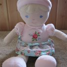 Carters Plush Doll Blonde Blue Eyed flowered dress Roses