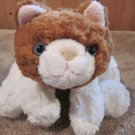 Mary Meyer Orange or rust and White  floppy Kitty Cat Plush