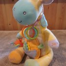Manhattan Toy Co Plush Giraffe Activity Toy Peak Squeak Rattle