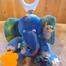 Eric Carle Plush Blue Elephant Activity Toy Teether