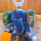 Eric Carle Plush Blue Elephant Activity Toy Teether
