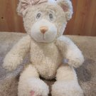 First & Main Creamy White Pink accents Name is Teddy Tidbits