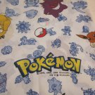 Pokemon one Twin Size  Flat Sheet  Nintendo 1998 Pikachu Ash and others