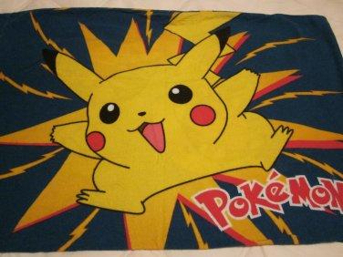 One Standard Size 100% Cotton Flannel Pokemon Pillow Case