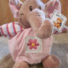 Royal Plush Elephant in Pink outfit with flower and stripes