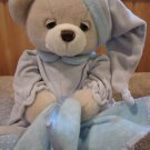 Aurora Bear Dreamy baby boy with blue blanket Musical