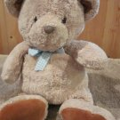 Carters Plush Tan Bear Blue checkered bow rust brown feet #5146 Just one year