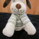 Tiny Tillia Plush Dog Brown ears named  Duncan striped shirt