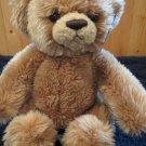 NWT Aurora Beary Friends Plush Tan Bear named Bashful 01319 NWT