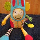 Alex jr Plush Baby Toy with tethers and sensory textures