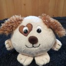 Galerie Plush small tan Dog with brown ears and heart eye