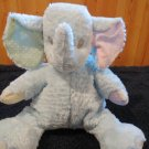 First & Main Blue Elephant Plush Rattle Pastel Baby Zoo