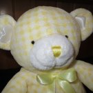 Animal Alley yellow white checkered Plush Bear My 1st Bear