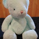 Baby Boyds Musical Lullaby light green Teddy Bear pink nose