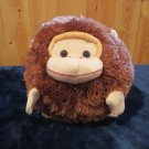 Moshi Round Brown Monkey  Plush Lovey Pillow