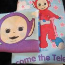 Teletubbies Toddler 1 Twin size Flat Sheet 1 standard size pillow case