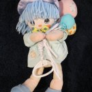 Precious Moments Plush Doll Musical Crib toy Girl holding balloons