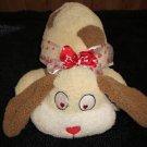 Atico International Valentine Plush Dog Heart eyes and nose