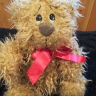 Russ Berrie Shaggy Plush TanTeddy Bear named Biscuit #4705