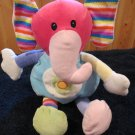 Best Made Plush Colorful Elephant with stripes and Circles