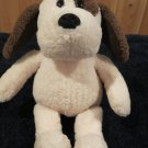 Gund Plush Cream colored Puppy Dog with Brown ears collar