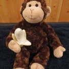 Gund Plush Brown Monkey named Mambo Holds Banana