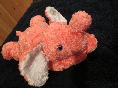 Ty babyBright Pink Tysilk Plush Elephant with Rattle Elephanthugs