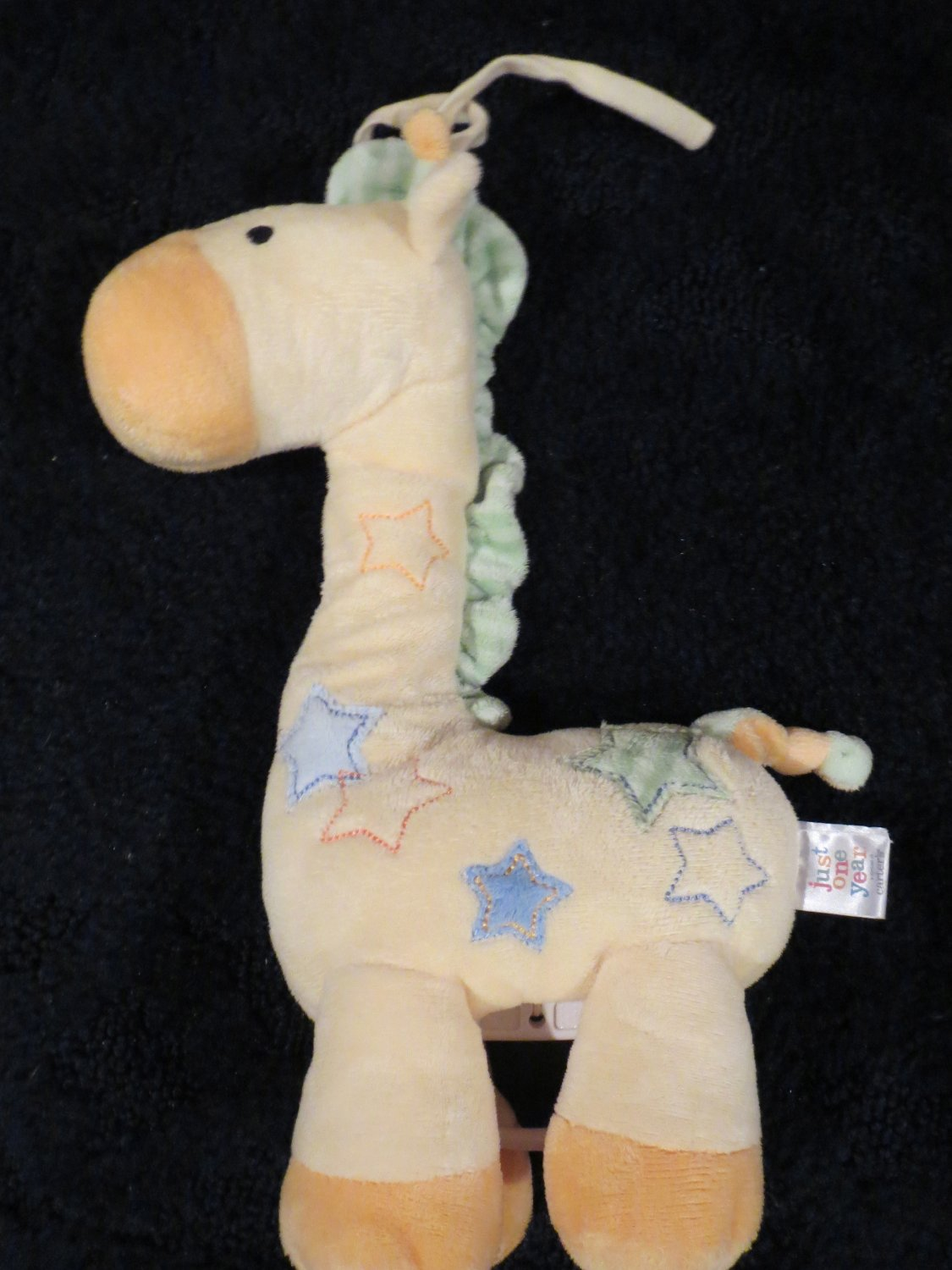 Just One Year Giraffe Musical Crib Toy with Stars plays Twinkle Twinkle little star