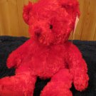 NWT Russ Berrie Plush Red Teddy Bear named Scarlet