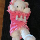 Fiesta Blanket Babies White Cat in Baby Blanket Plush Toy